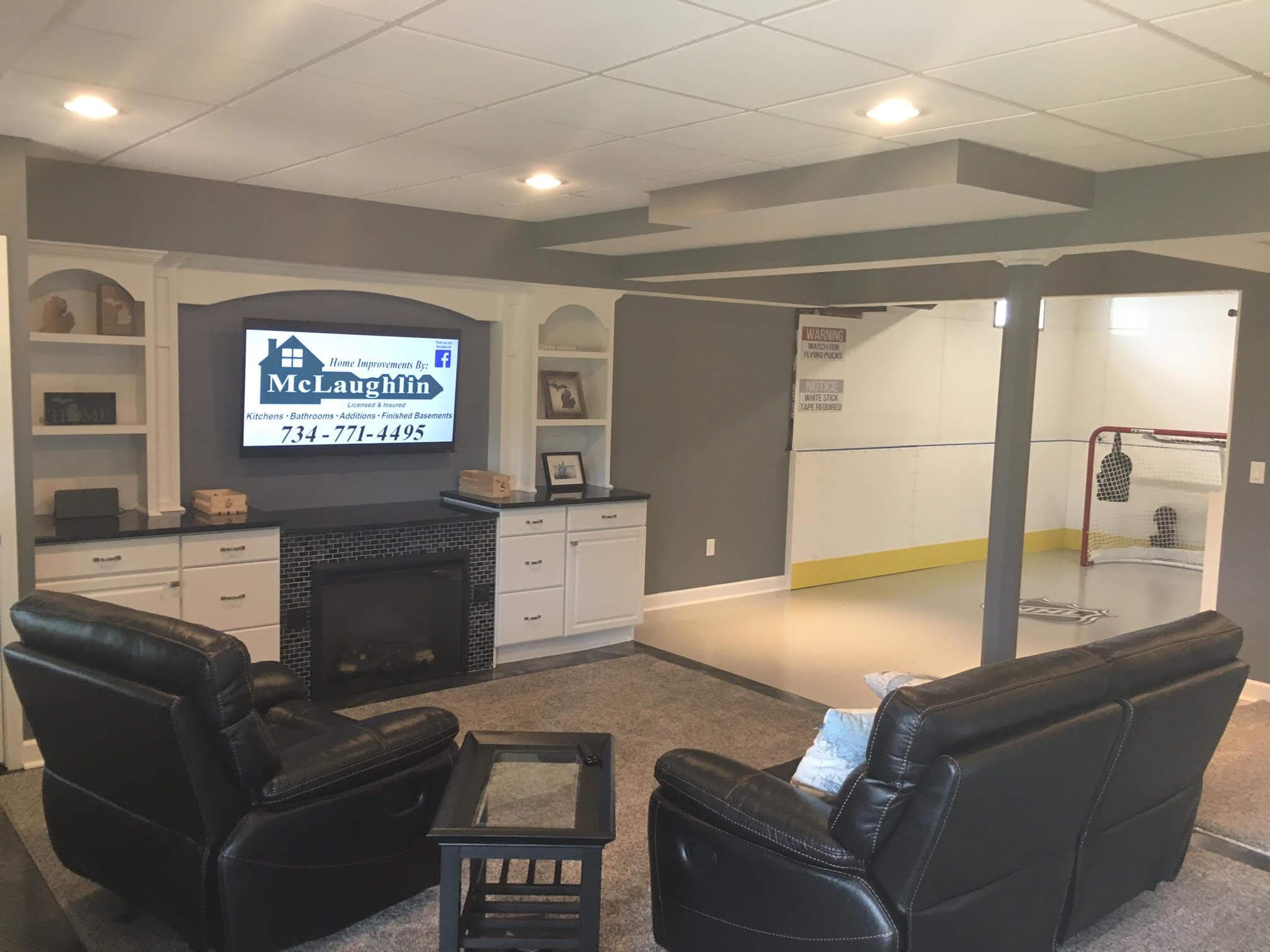 Garage Basement Rinks  Hockey Boards  Synthetic Ice  D1 Rinks