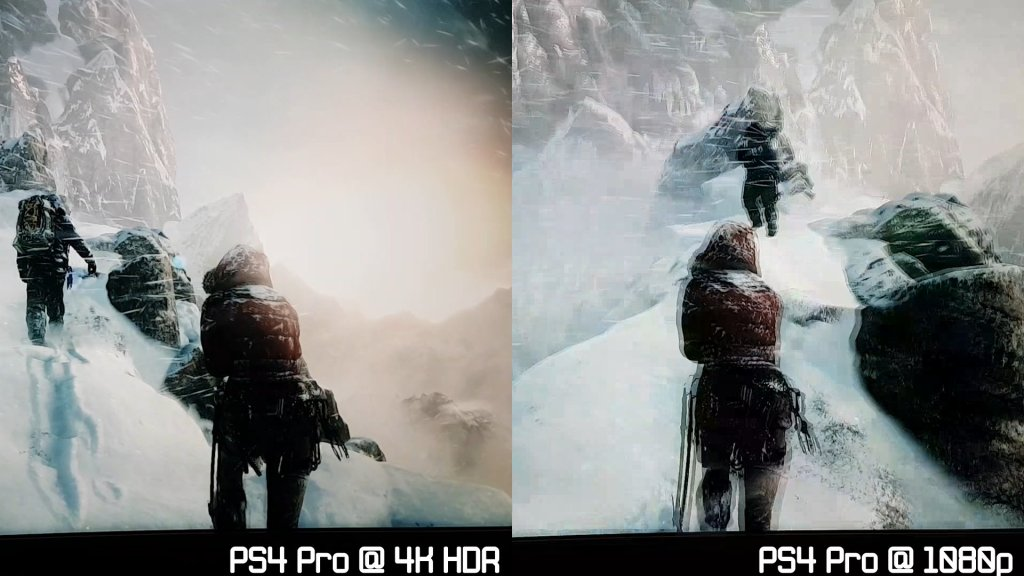 Rise of the Tombraider PS4 Pro Comparison