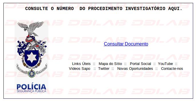 falsa pagina della polizia portoghese