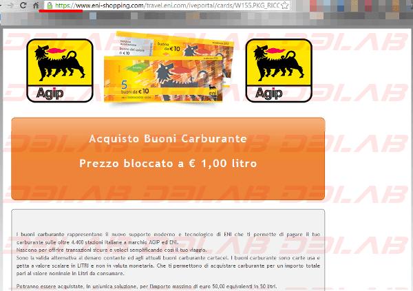 falsa pagina Agip/Eni