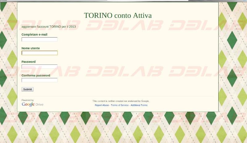 pagina web fraudolenta