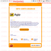 home page di phishing