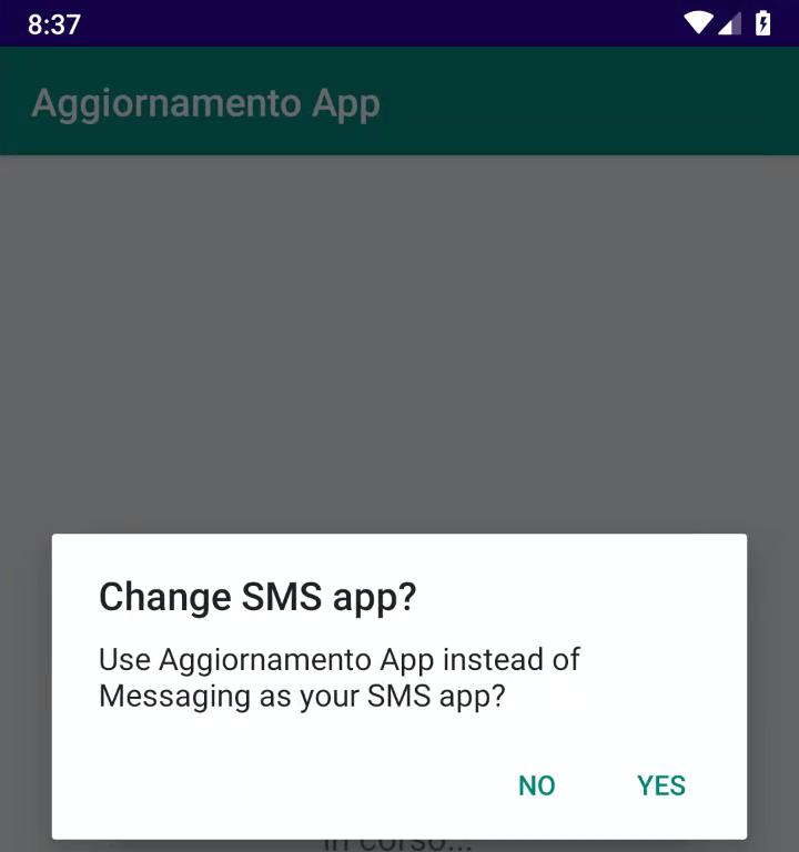 Aggiornamento App SMS Android
