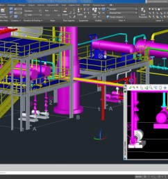 piping autocad electrical plant design rendering [ 1266 x 754 Pixel ]