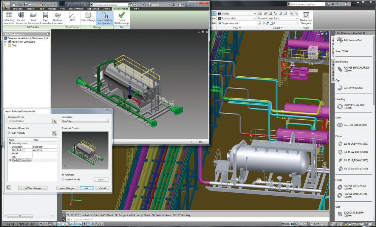hight resolution of autocad plant design rendering
