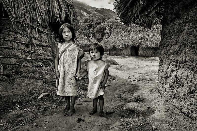 Kogi Children in Village, Guajira, Colombia, 2017