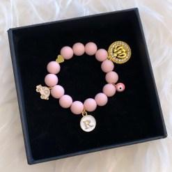 Perlenarmband rosa 1buchstabe 1700
