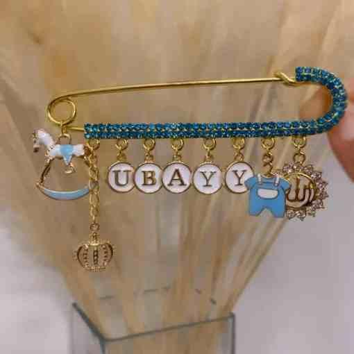 Strassnadel blau UBAYY 10cm 2100