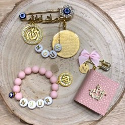Babygeschenke im Set NOUR rosa islamisch