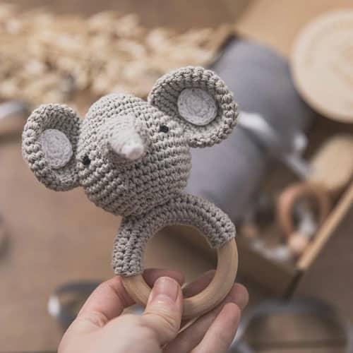 babygeschenk set elefant rassel