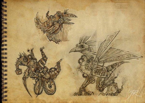 Steampunk Creature Art