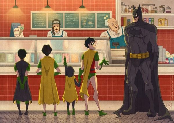 Batman and Robin Ice Cream