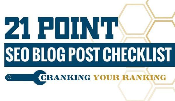 21 Step Blog SEO Checklist To Help You Rank On Google