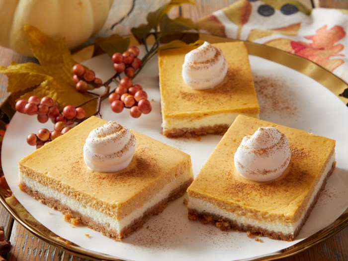 pumpkin cheesecake bars for thanksgiving dapulse recipe