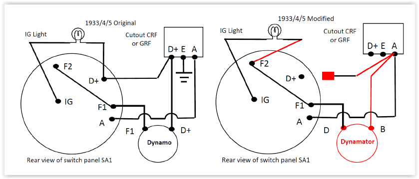 dynamo to alternator conversion wiring diagram 2003 gmc radio fitting the accuspark a7 dynamat photo 3 jpg