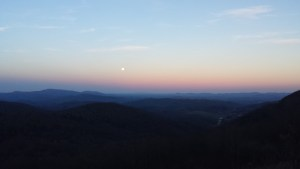 Moonrise at Grayson Highland State Park