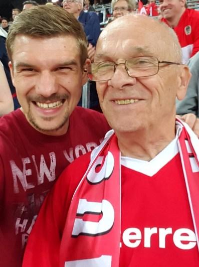 Vater und Sohn für Österreich