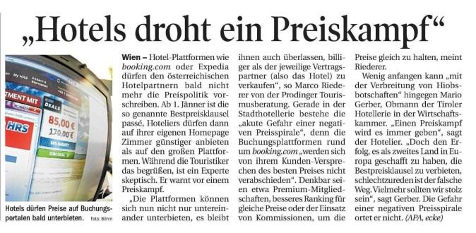 30.12.2016, Tiroler Tageszeitung