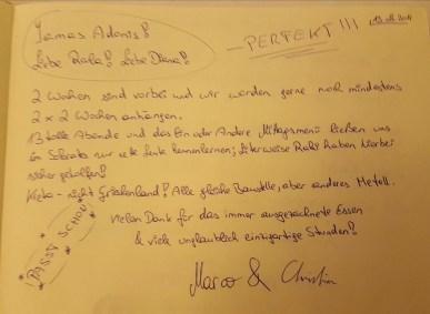 Gästebuch 2011
