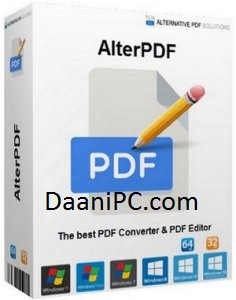 AlterPDF Pro 5.0 [Portable] Crack With License Key Free Download