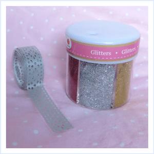 glitterbol sneeuwbol maken diy glitter tape