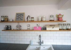 keuken houten planken geen bovenkastjes steigerhouten planken -3