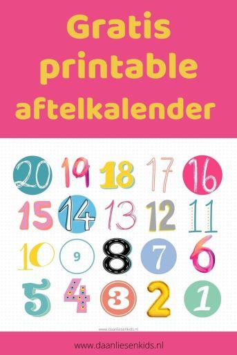 Gratis printable aftelkalender verjaardag aftellen mamablog - mamablogger -daanliesenkids