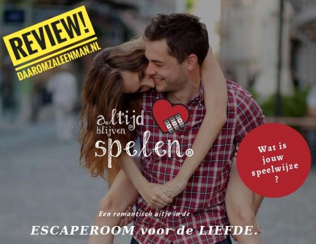 Review: Escaperoom voor de Liefde - Altijd blijven spelen!