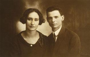 אבא יעקב שאול ואמא זהבה לאחר הנישואין