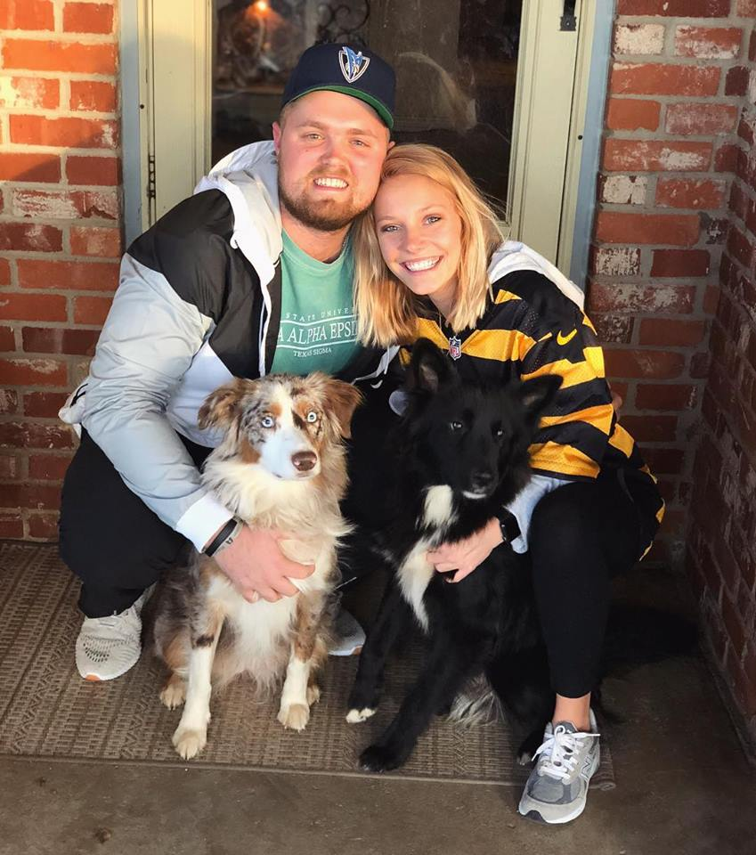 Teresa, her boyfriend Jordan, and their two pups