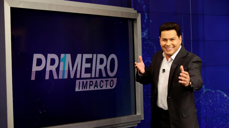 Marcão do Povo é um dos apresentadores do jornal Primeiro Impacto