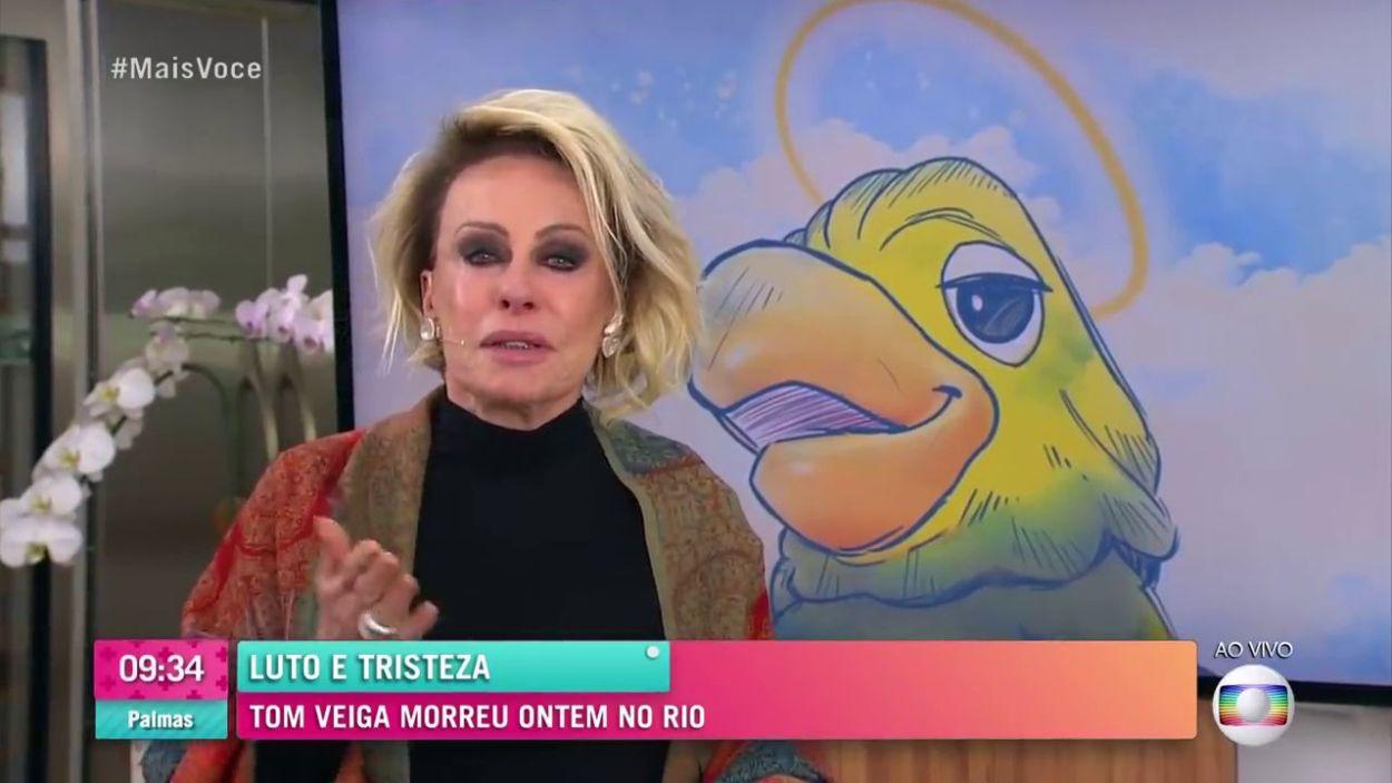 Ontem não foi nada fácil para Ana Maria Braga, ela perdeu o seu parceiro de programa, Tom Veiga, que fazia o Louro José