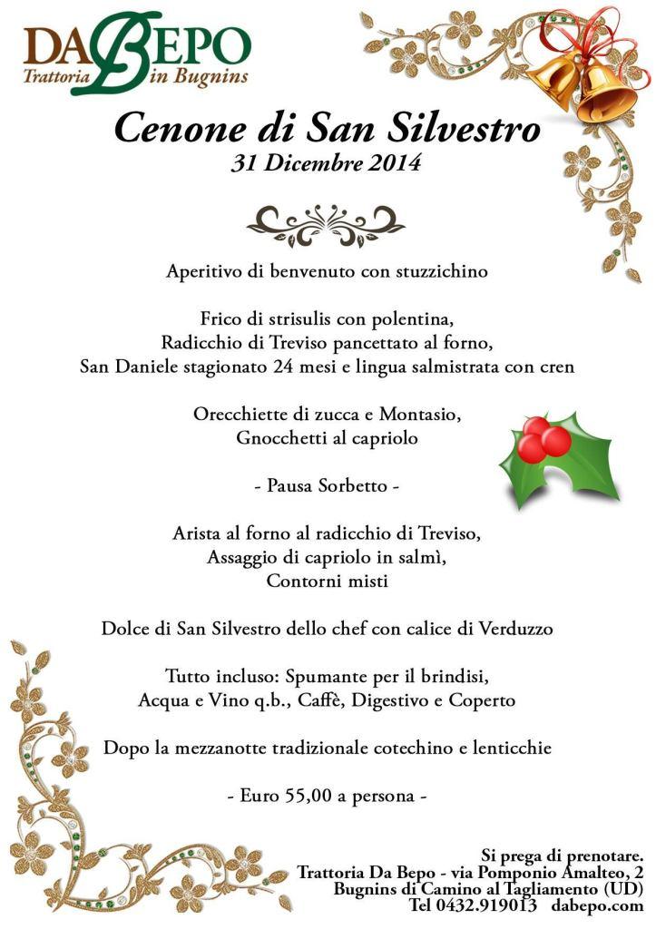 Capodanno Da Bepo 723x1024 Cenone di San Silvestro Da Bepo