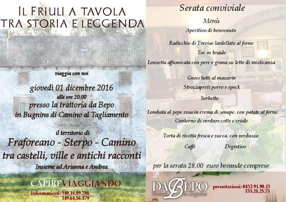 il friuli a tavola 1 1024x724 01.12.2016   Il Friuli a tavola tra storia e leggenda
