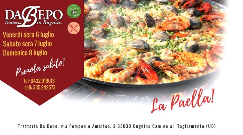 visual Da Bepo 1 1 6 7 8 Luglio: La Paella