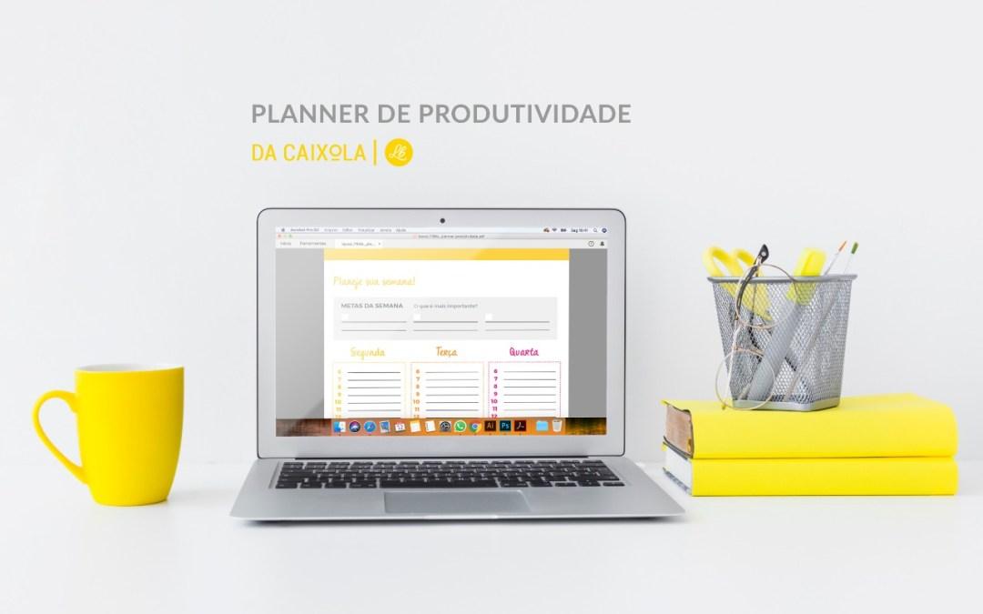 Planner semanal para imprimir: seu Planner de Produtividade