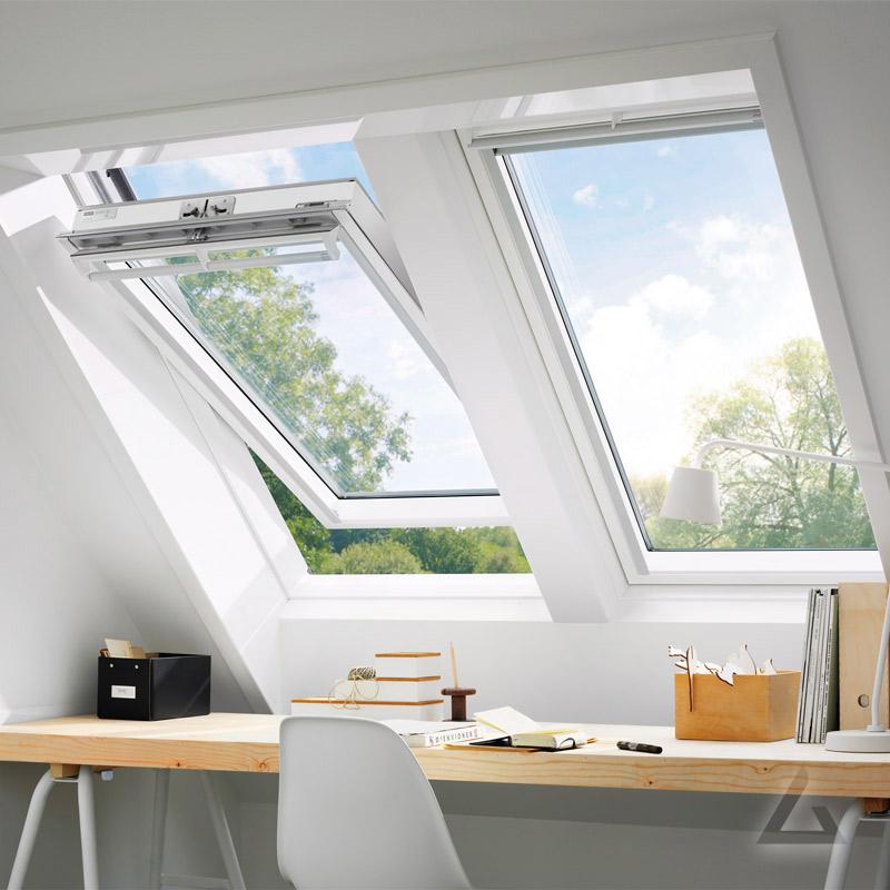 velux schwingfenster ggl sk06 2070 weiss lackiert thermo alu 114x118 cm
