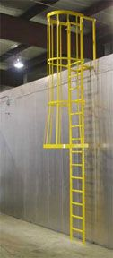 Industrial Safety Cages  Ladders  Warehouse Safety