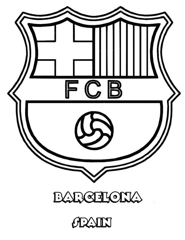 Colorare Calcio, disegno FC Barcelona