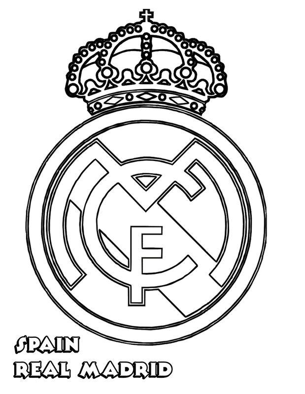 Colorare Calcio, disegno Real Madrid