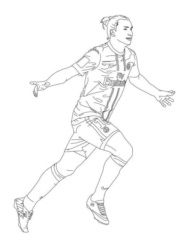 Colorare Calcio, disegno Zlatan Ibrahimovic
