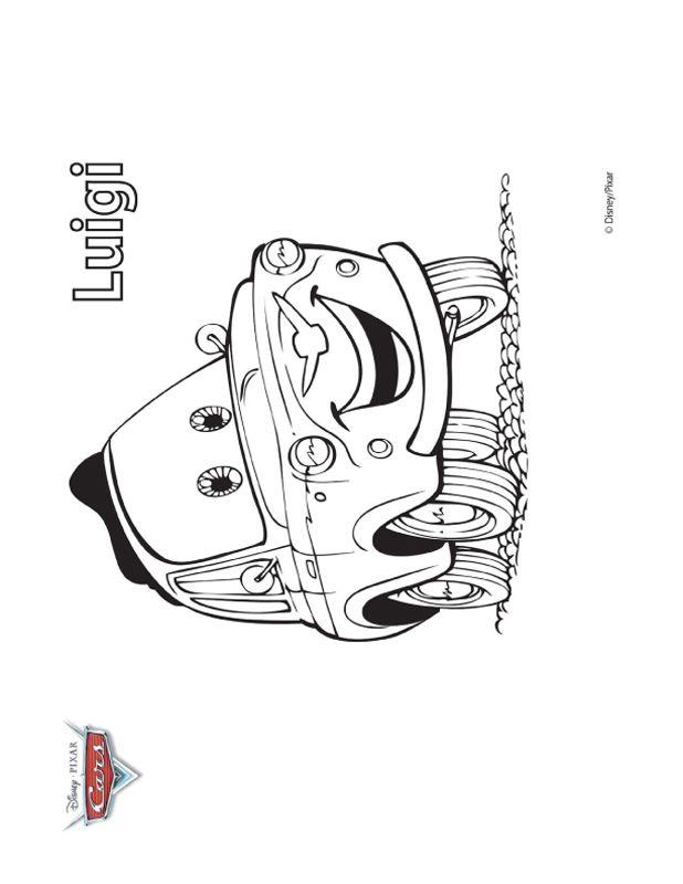 Colorare Cars, disegno Luigi Fiat 500
