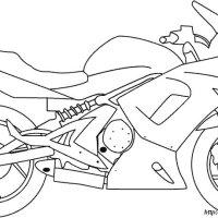 Colorare Moto, disegno moto disegni