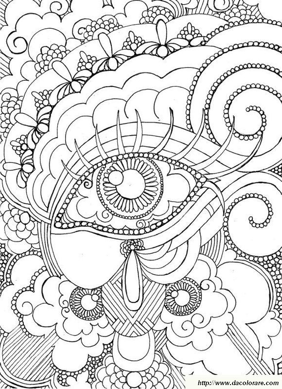 Colorare Per adulti, disegno Un occhio da colorare