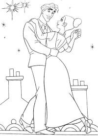Colorare La principessa e il ranocchio, disegno Tiana e ...