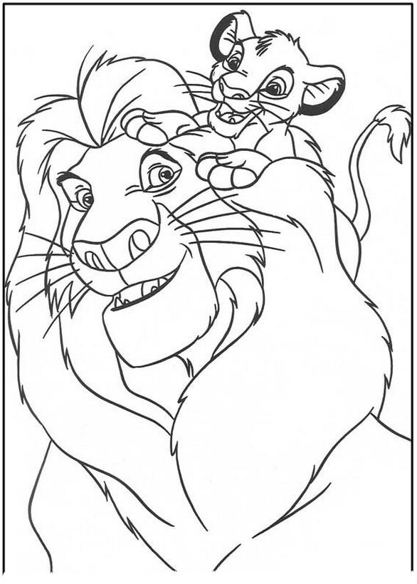 Colorare Il Re Leone Disegno Immagini Il Re Leone