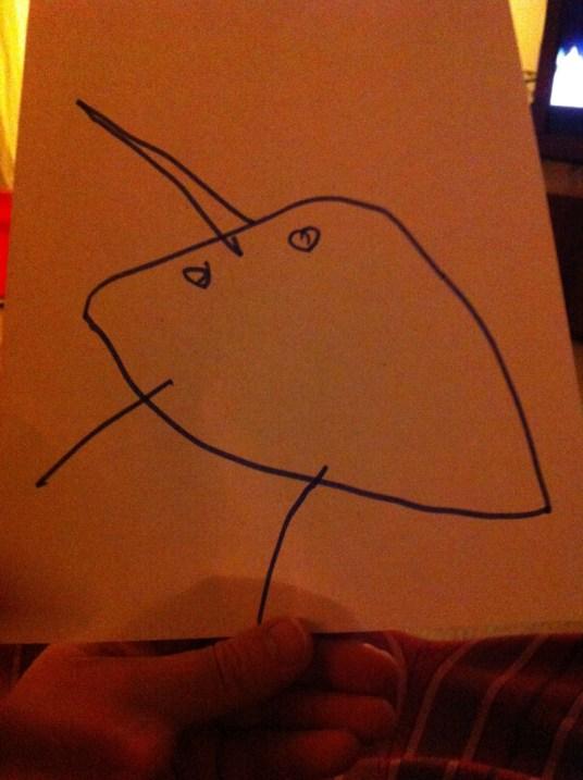A cerejinha L desenhou o mamute...