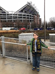 The Monster outside M&T Bank Stadium, December 2017