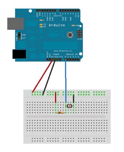 Arduino et photorésistance