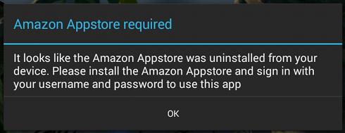 Android nécessité App Shop